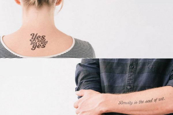 Litographs literary quote temporary tattoos | coolmompicks.com
