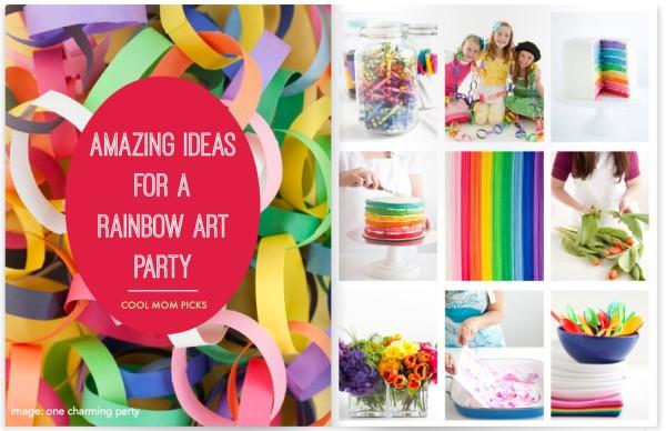 Rainbow art party ideas on Cool Mom PIcks