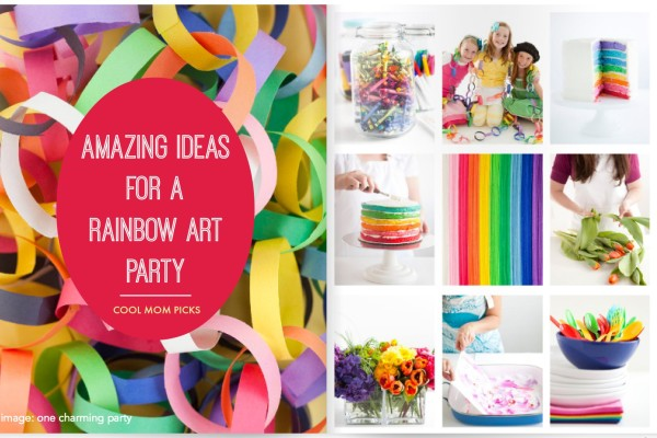 Rainbow art party ideas on Cool Mom PIcks