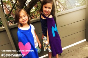 A DIY Superhero cape craft: how we #SavorSummer with Martha Stewart