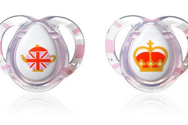 Tommee Tippee British pacifier for girls in honor of Prince George's birthday