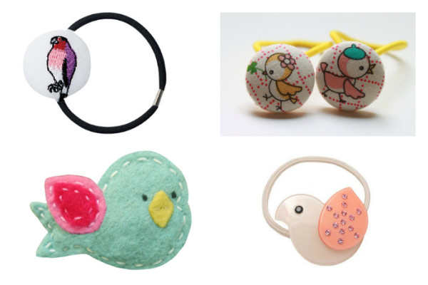 Bird hair accessories: perfect for Back to School 2014