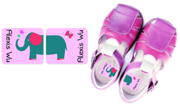 Emily Press Preschool Shoe Labels help kids tell right from left
