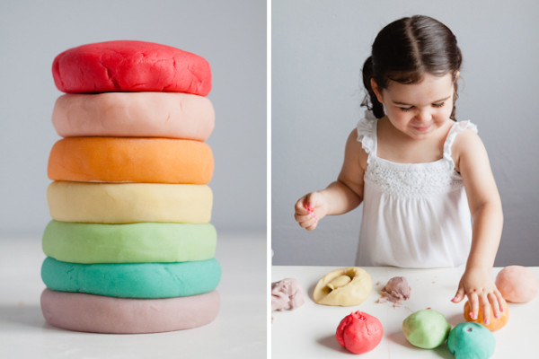 DIY Jell-O Playdough recipe at Modern Messy Kids