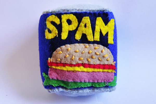 Handmade Spam by Lucy Sparrow | Cool Mom Picks