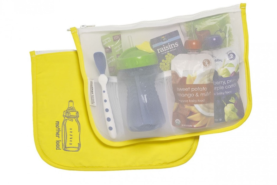Eco friendly baby bags by Mother Load for snacks and gear
