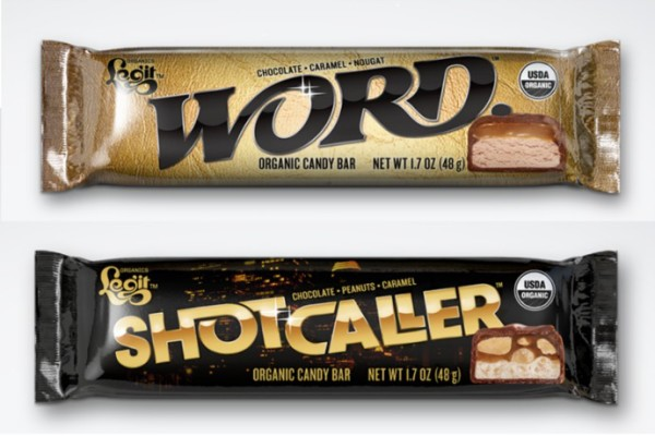 Legit Organics candy bars: Word and Shotcaller