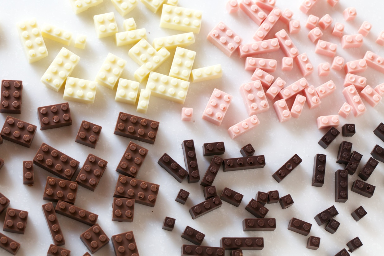 Chocolate LEGOs! Suddenly everything is awesome, after all.