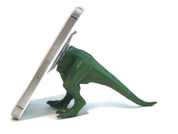 Dinosaur Toy iPhone Stand | Cool Mom Tech