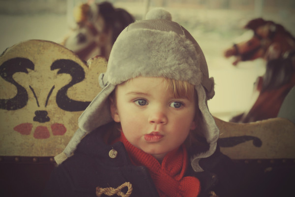 Winter accessories for toddlers: Elks and Angels shearling hat