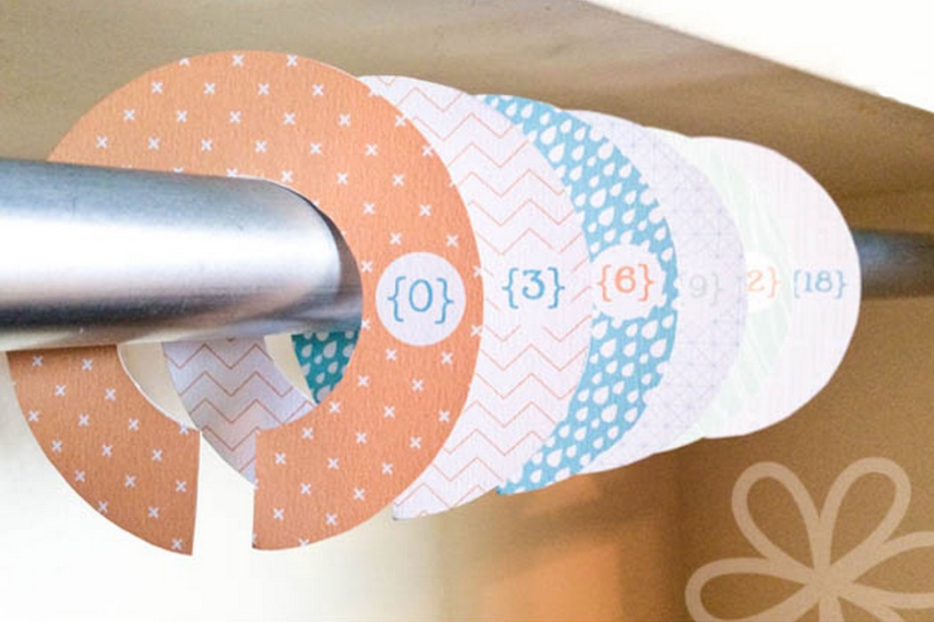 Free printable closet dividers for babies and kids