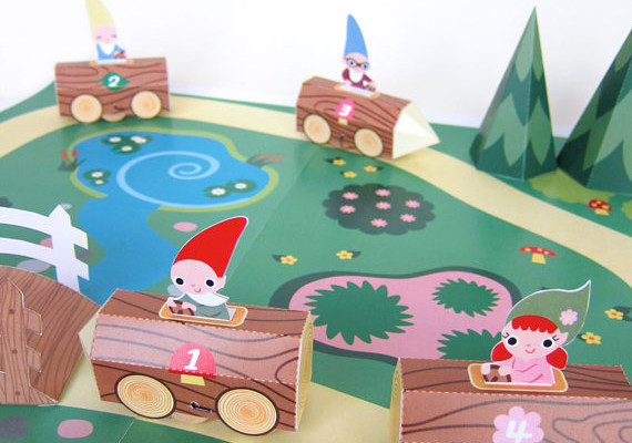 Gnome race car printable playset at Fantastic Toys