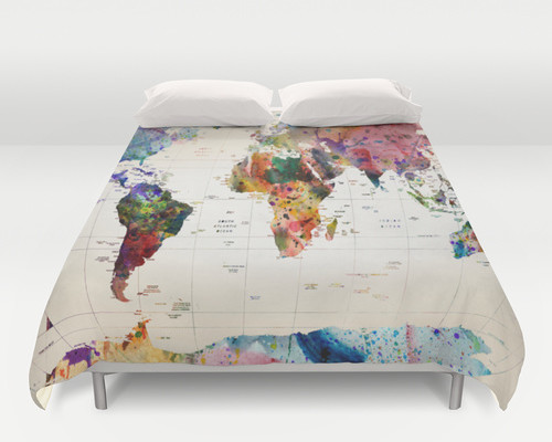 Map duvet cover from Society 6 | Cool Mom Picks
