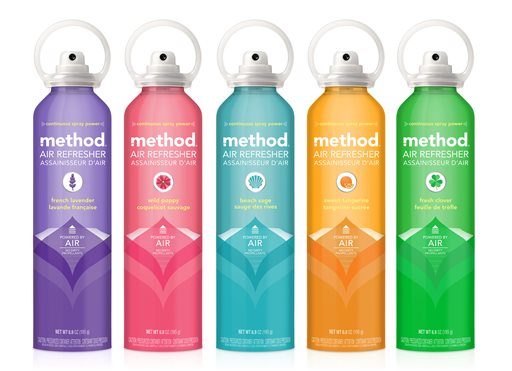New Method Air Freshener in earth-friendly containers