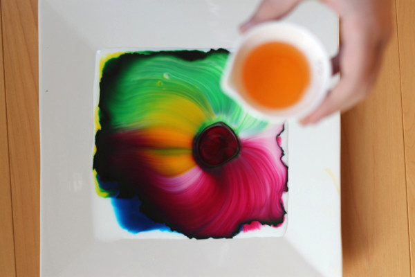 Milk Art science activity at Flutter Flutter | Cool Mom Picks