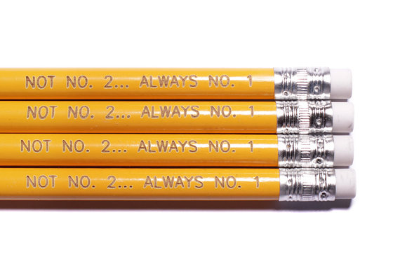 Cool Pencils for back to school: Not No. 2...Always No. 1 at We Are All Smith Etsy shop