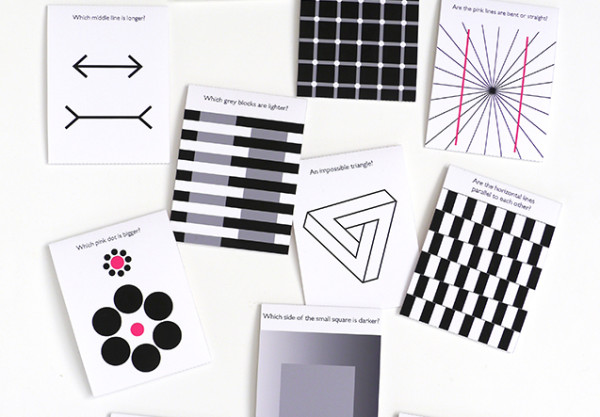 Optical illusion flash cards for kids