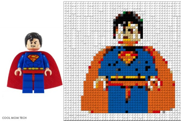Superman LEGO Portrait by Photobrix