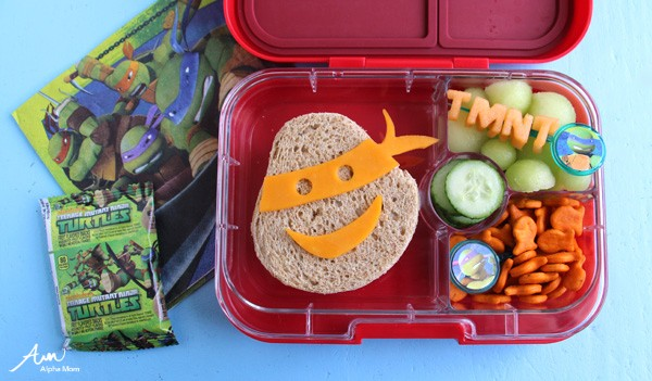 Teenage Mutant Ninja Turtle Bento Lunch DIY at Alpha Mom