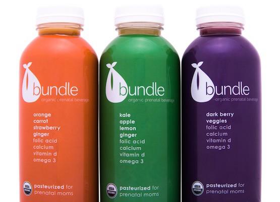Bundle Organics prenatal juice for pregnant moms