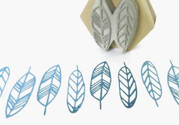 Creatiate feathers stamp and other cool handmade rubber stamps on Etsy