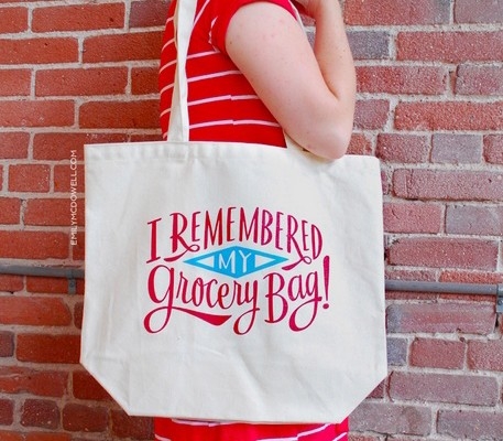 Reusable grocery bag: I Remembered My Grocery Bag tote by Emily McDowell