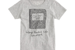T-shirts from J Crew that help support two of our favorite educational charities