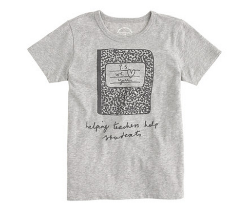 Kids t-shirts for charity: J Crew for Donors Choose