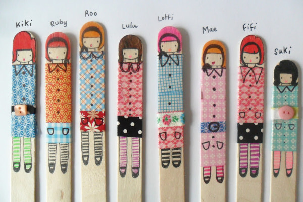 DIY Popsicle Stick Dolls at Tea Wagon Tales