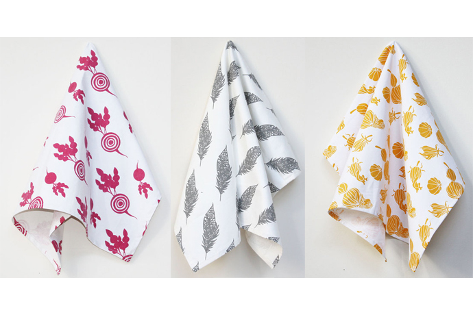 Cool hostess gifts: Handmade tea towels you'll want to keep for yourself