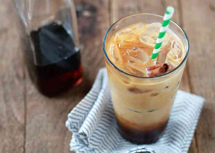Copycat coffee drink recipes: Cinnamon Dolce Iced Coffee at Kitchen Treaty