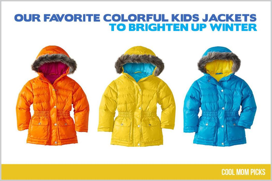 Colorful winter jackets for kids | Cool Mom Picks