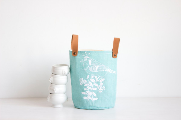 Stylish storage bins by MUNI Shop on Etsy