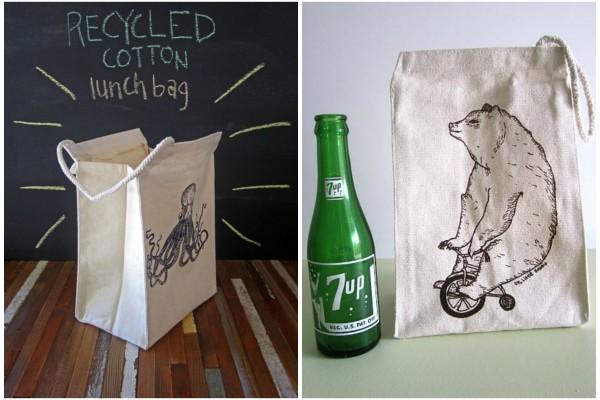 Reusable lunch bags from Oh Little Rabbit Etsy shop