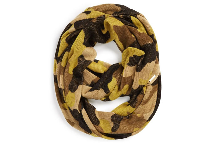 Cool Camouflage Clothing and Accessories: Michael Kors infinity scarf