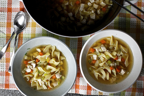 Foods for cold and flu season: Chicken Noodle Soup at Smitten Kitchen