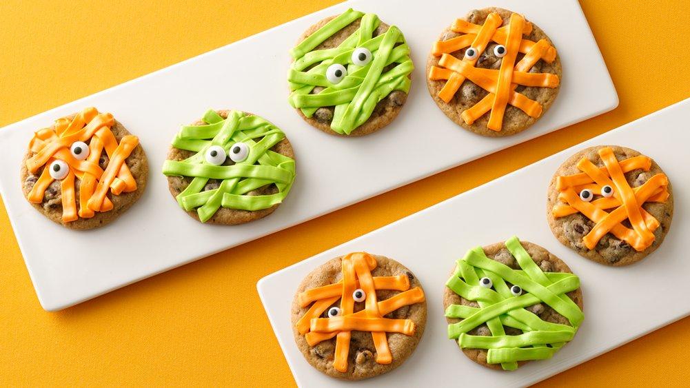 Cool Mom Picks best semi-homemade Halloween snacks | Halloween Mummy Cookies at Pillsbury