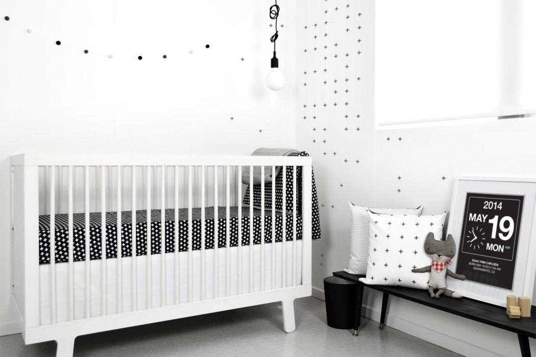 Olli and Lime Black and White Cross Nursery