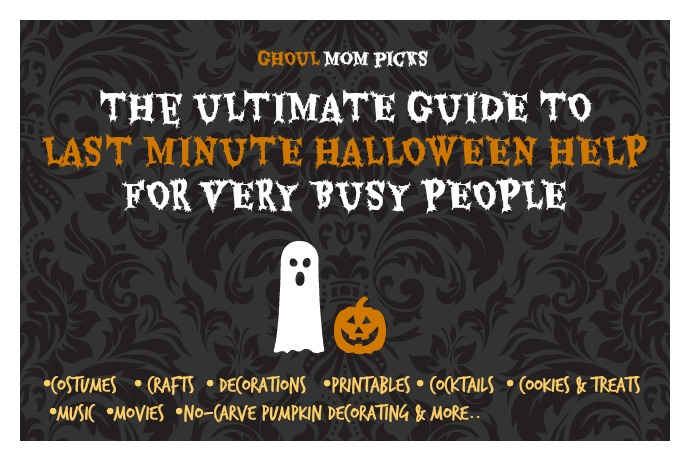The ultimate last-minute Halloween idea guide: Costumes, treats, recipes, printables, crafts, decor, pumpkins and more.