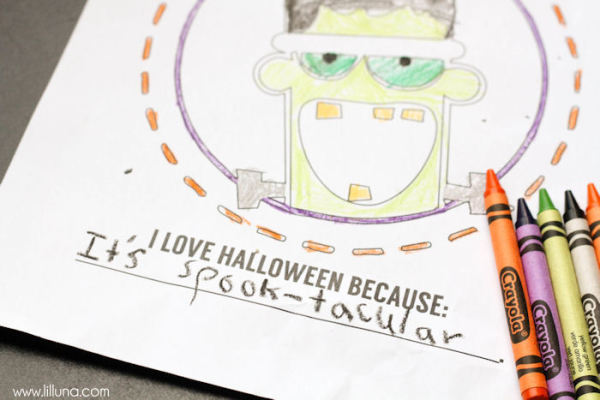 Halloween classroom treat ideas that aren't candy: Halloween coloring pages