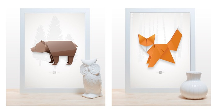 You've got to know when to fold 'em. And by that, we mean awesome origami art prints.