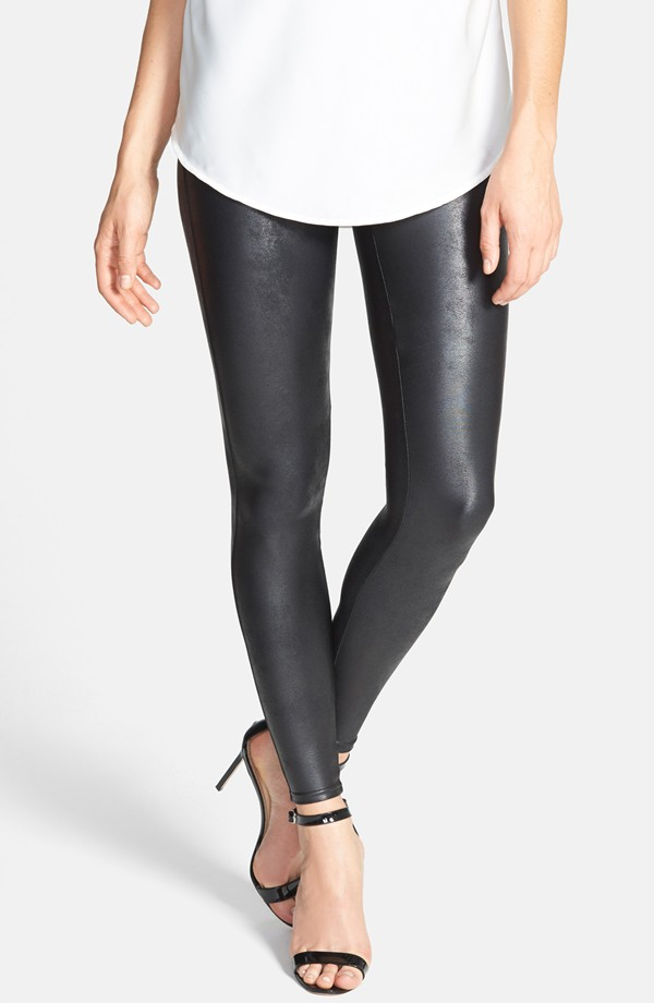 Spanx faux leather leggings. Hot!