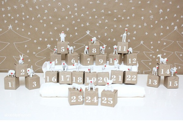 DIY Advent Calendar by A Bubbly Life