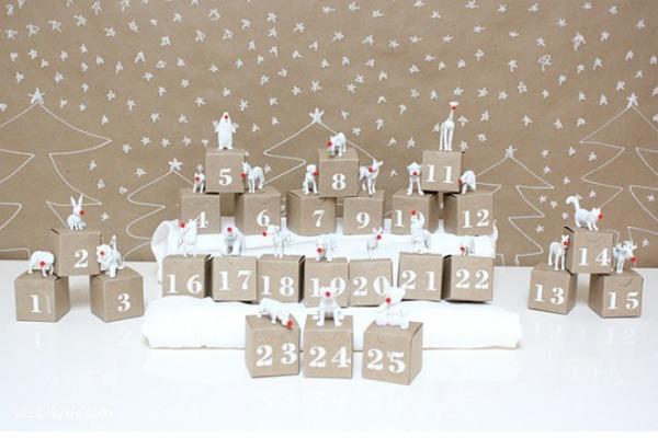 DIY Advent Calendar by A Bubbly Life
