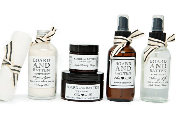 Natural skin care products: Board and Batten Farm to Skin