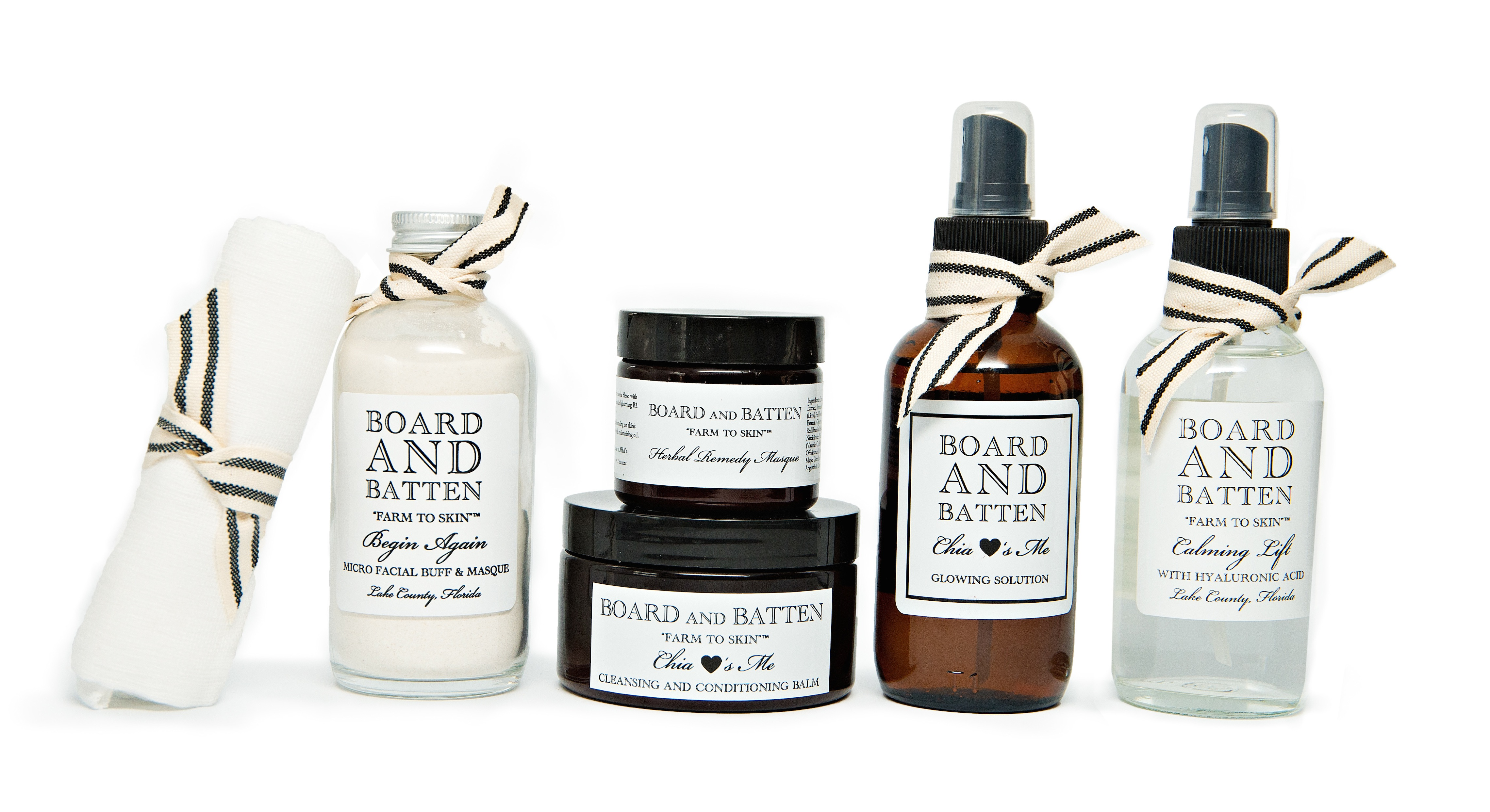 Natural Skin Care products line Board and Batten