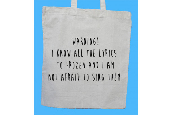 This Disney Frozen reusable grocery bag is cracking us up