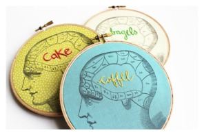 This is your brain on embroidery hoop art