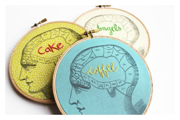 Your brain on Merriweather Council embroidery hoop art