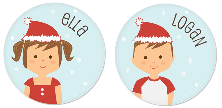 Personalized Christmas plates for kids | holiday gift guide